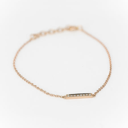 Mini Diamond Bar Bracelet by Atheria Jewelry