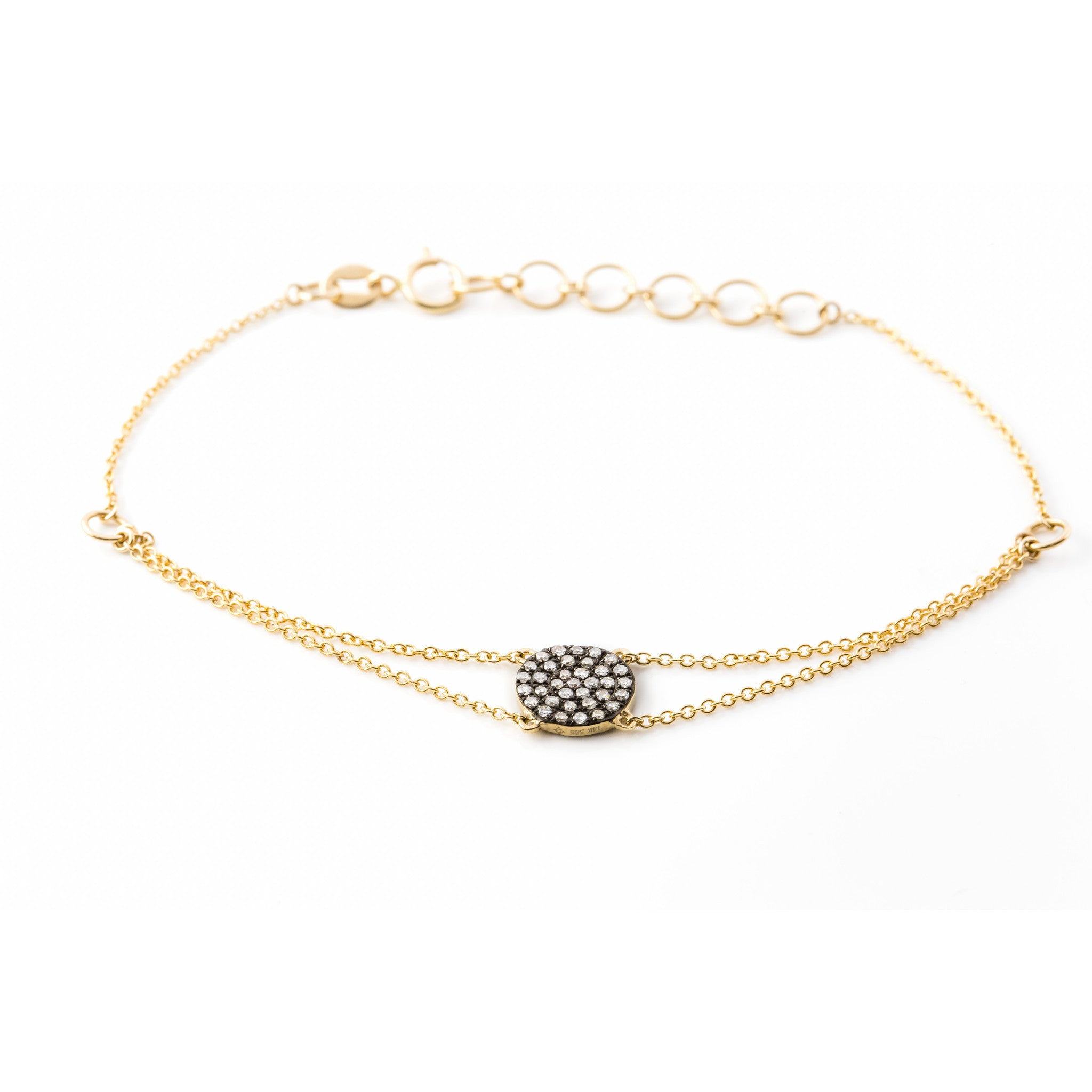 Reversible Diamond Disc Bracelet by Atheria Jewelry