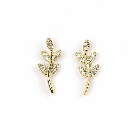 5 Petal Leaf Earrings by Atheria Jewelry