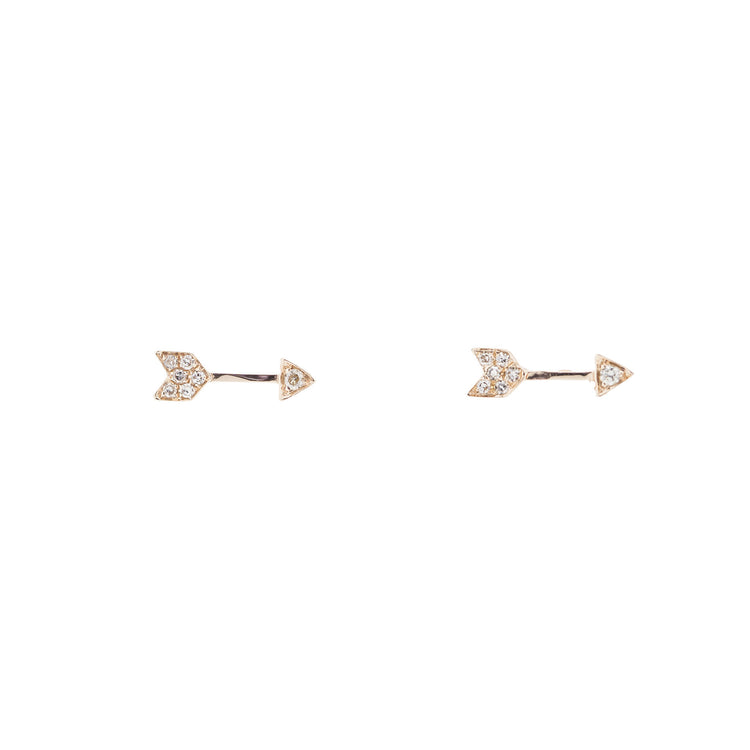 Arrow Diamond Earrings by Atheria Jewelry