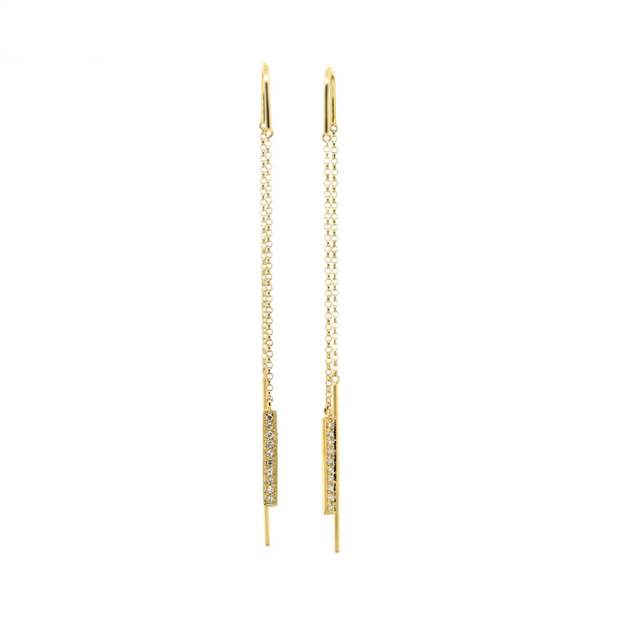 Mila Dangling Diamond Chain Earrings