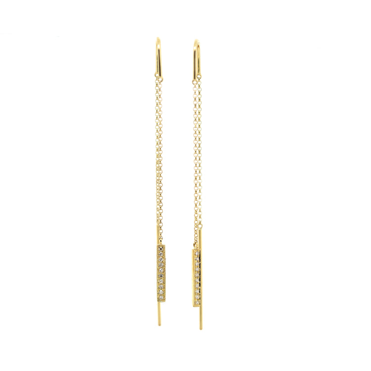 Dangling Diamond Chain Earrings by Atheria Jewelry