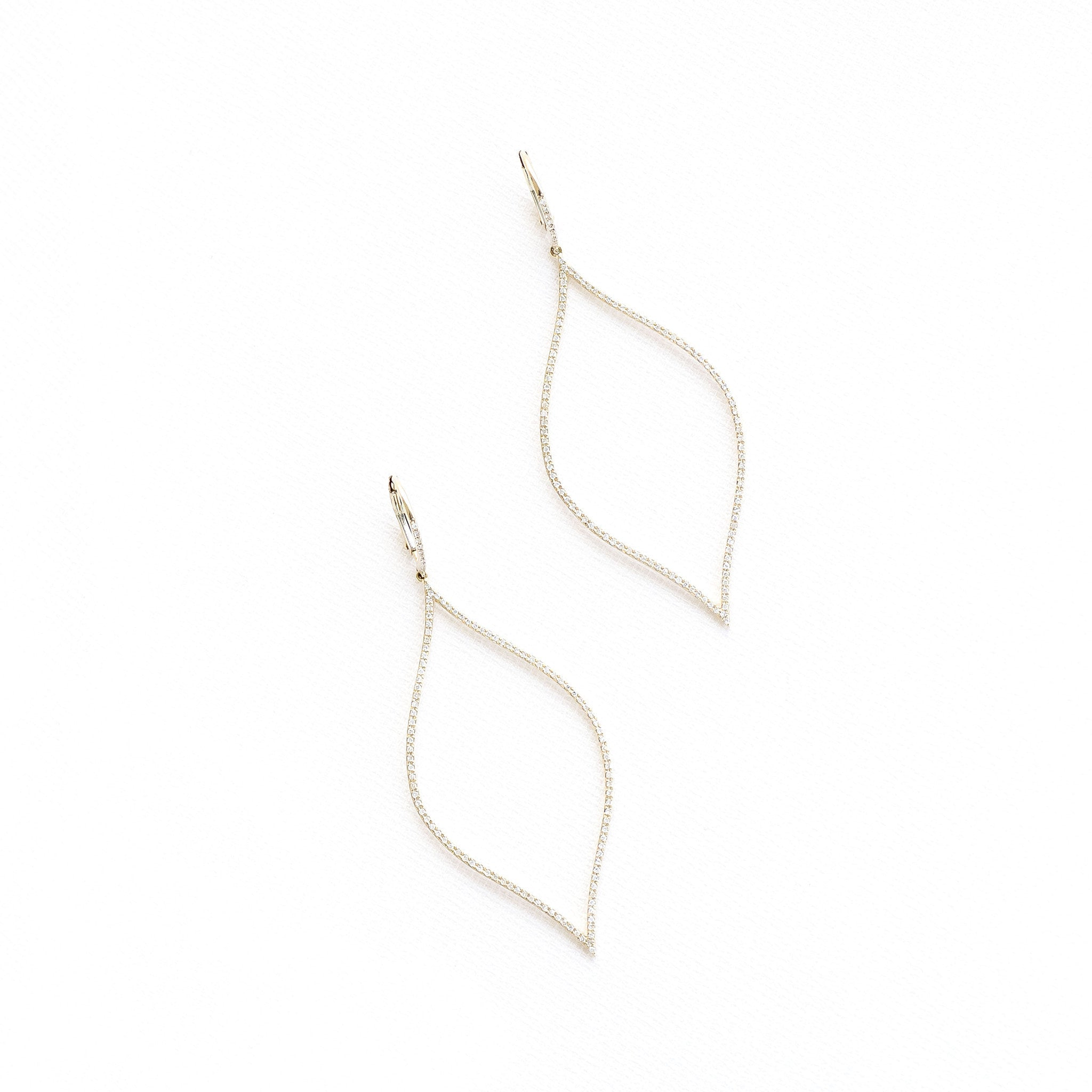 Dangling Diamond Mosaic Earrings by Atheria Jewelry