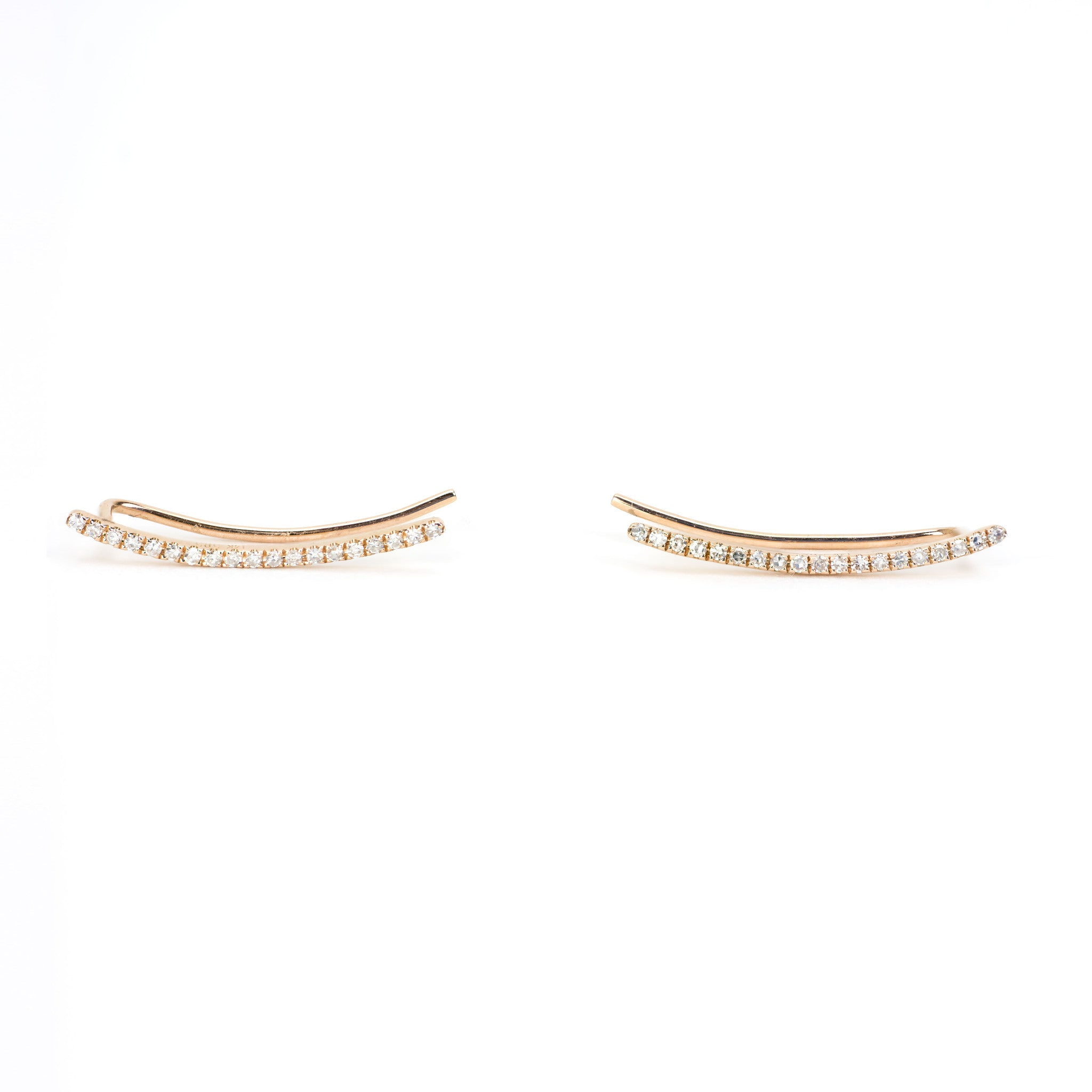 Diamond Curved Bar Ear Cuff by Atheria Jewelry