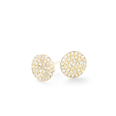 Diamond Disc Earrings by Atheria Jewelry