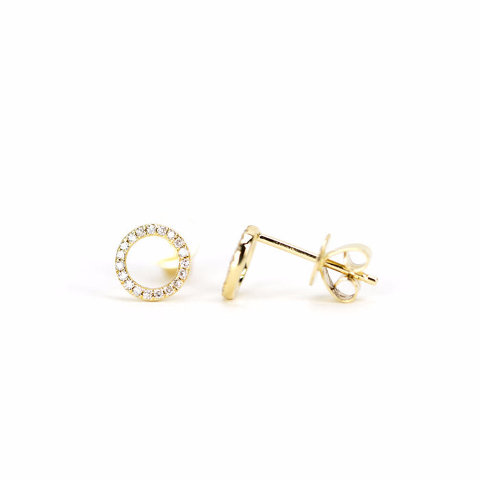 Diamond Halo Earring by Atheria Jewelry