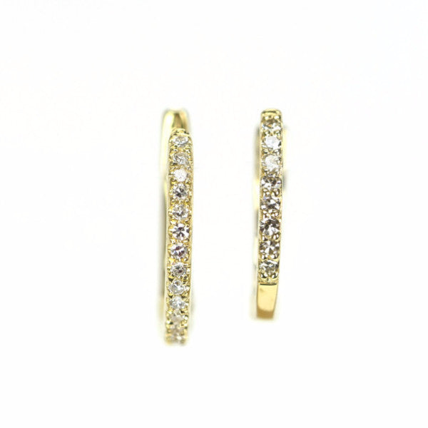 Diamond Huggies Earrings by Atheria Jewelry