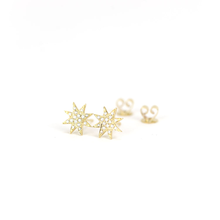 Diamond Starburst Earrings by Atheria Jewelry