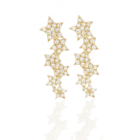 Diamond Stars Ear Cuffs by Atheria Jewelry