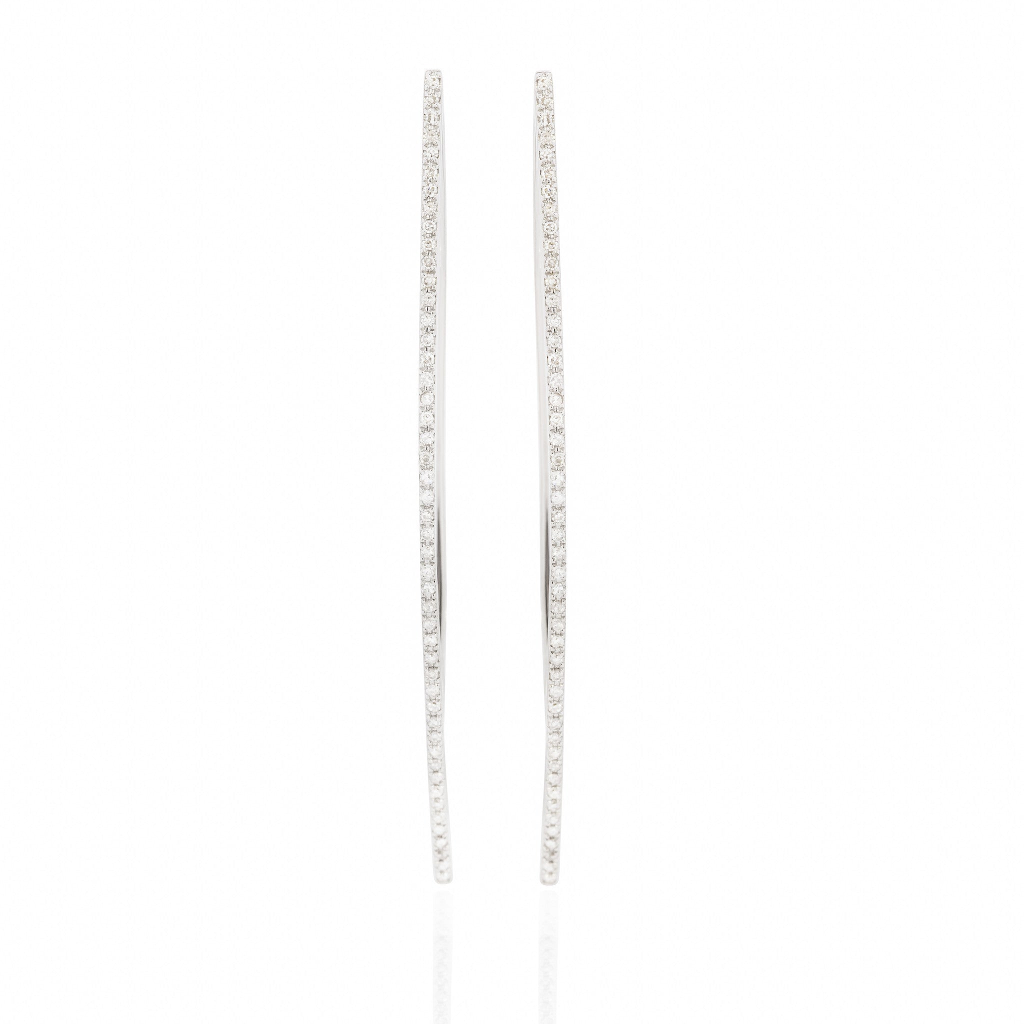 Diamond Studded Linear Earrings by Atheria Jewelry