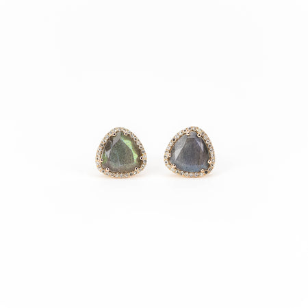Labradorite and Diamond Earring by Atheria Jewelry