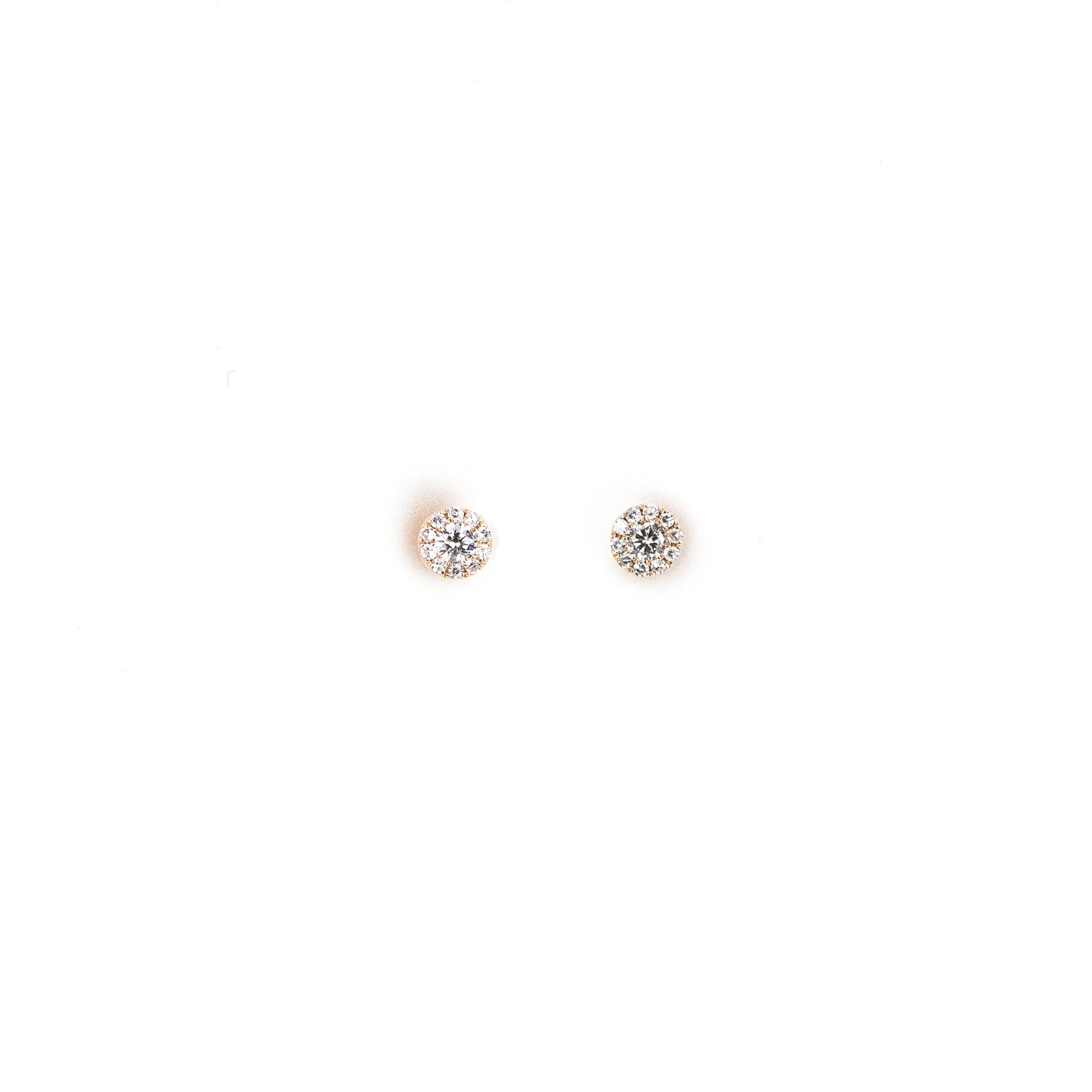 Mini Diamond Disc Earrings by Atheria Jewelry