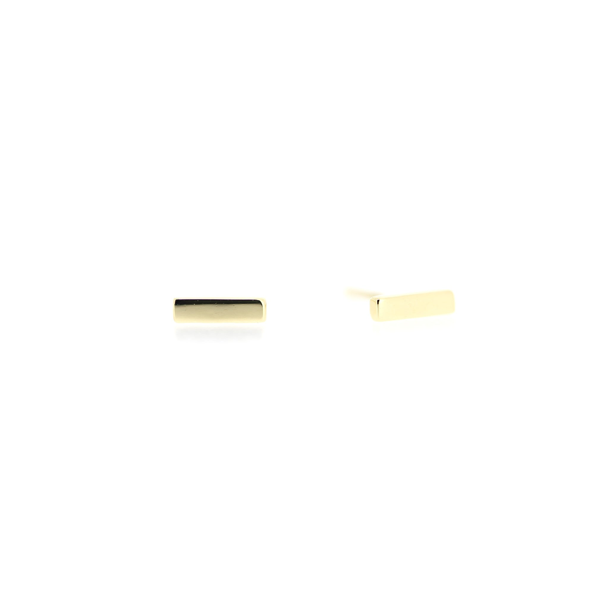 Minimalist Bar Earrings by Atheria Jewelry