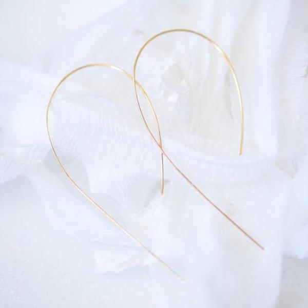 Minimalist Ear Loops by Atheria Jewelry