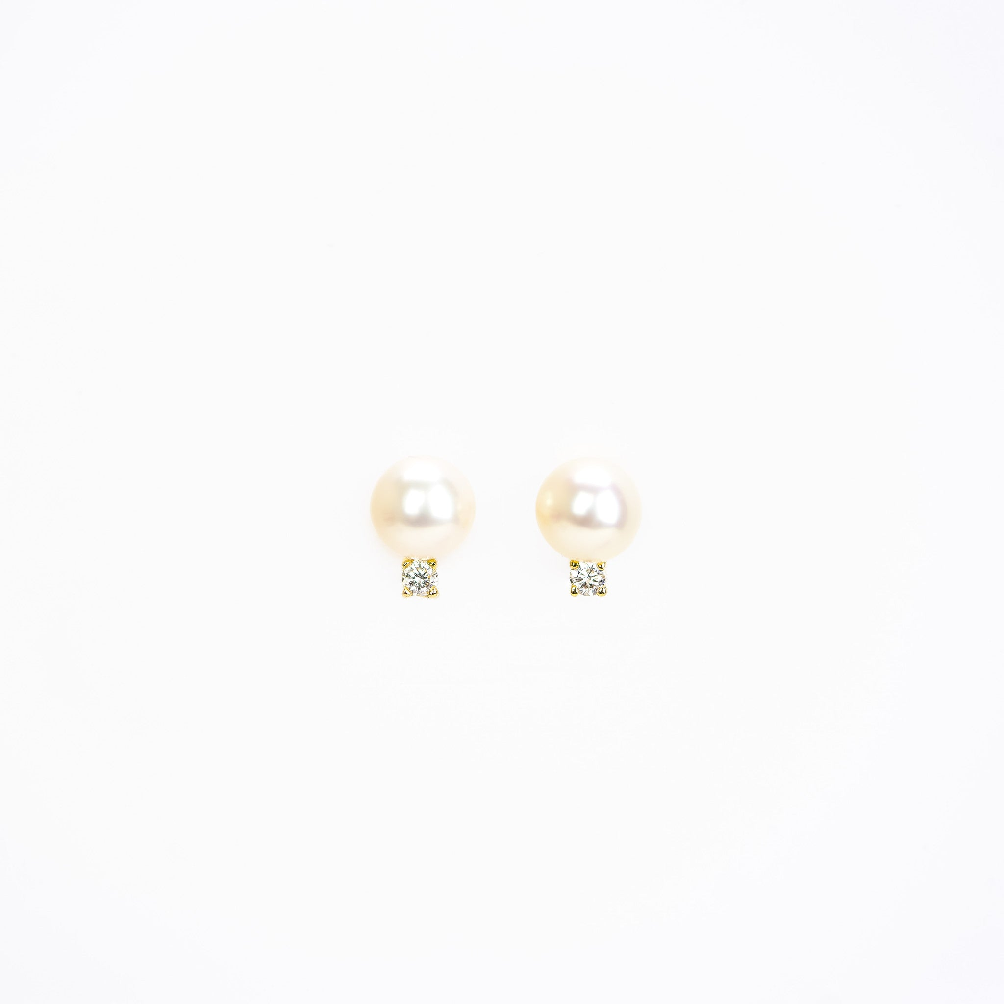 Pearl and Diamond Earrings by Atheria Jewelry