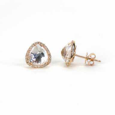 White Topaz and Diamond Earrings by Atheria Jewelry