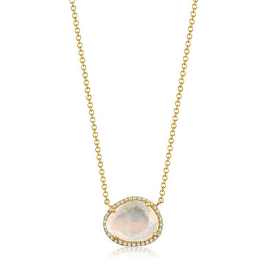Bailey Organic Moonstone and Diamond Necklace