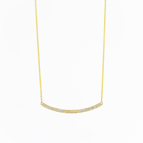 Amelia Diamond Arc Necklace by Atheria Jewelry