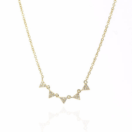 5 Triangle Diamond Necklace by Atheria Jewelry