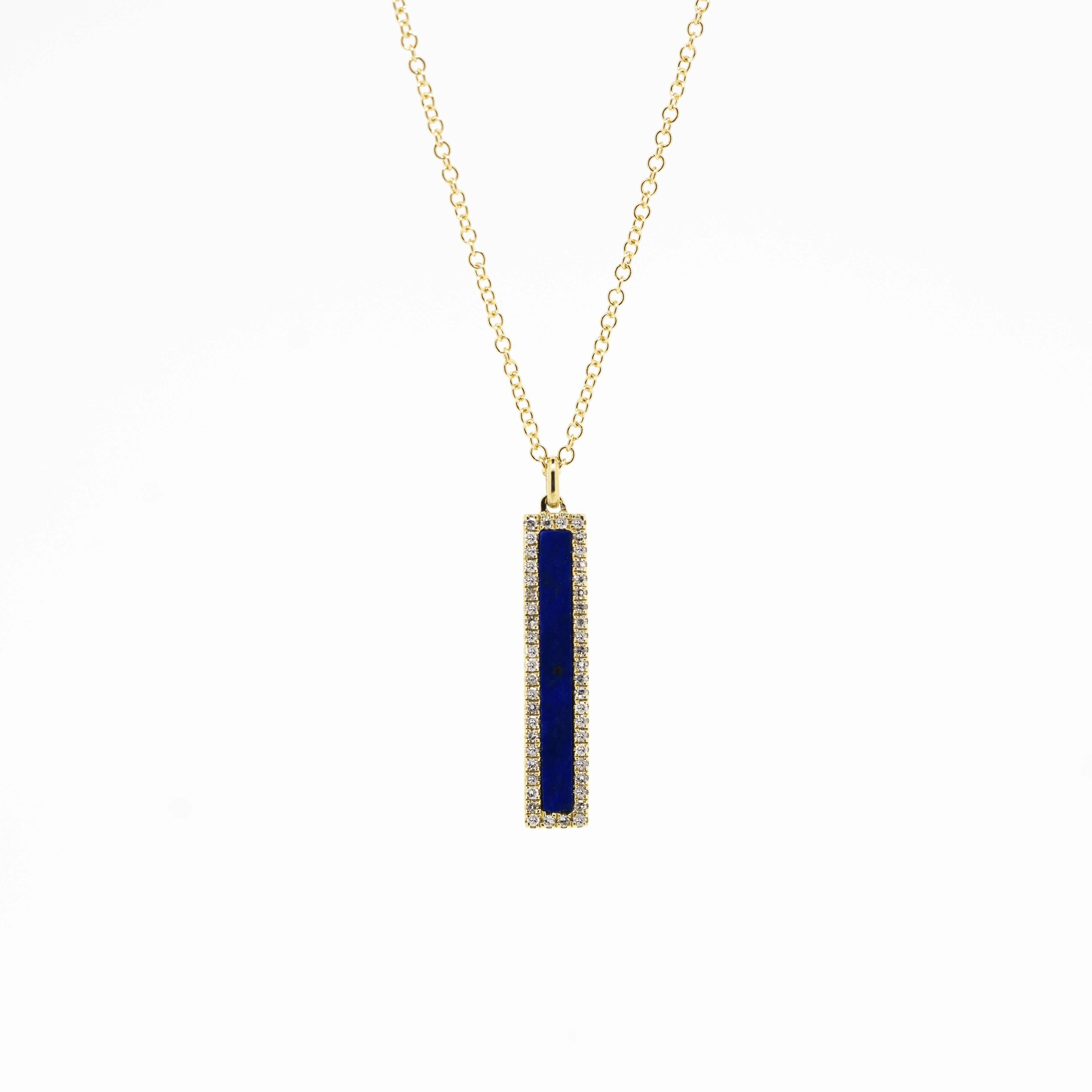 Addison Lapis and Diamond Necklace by Atheria Jewelry