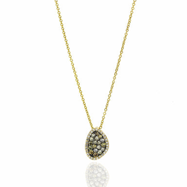 Champagne and White Diamond Meteorite Necklace by Atheria Jewelry