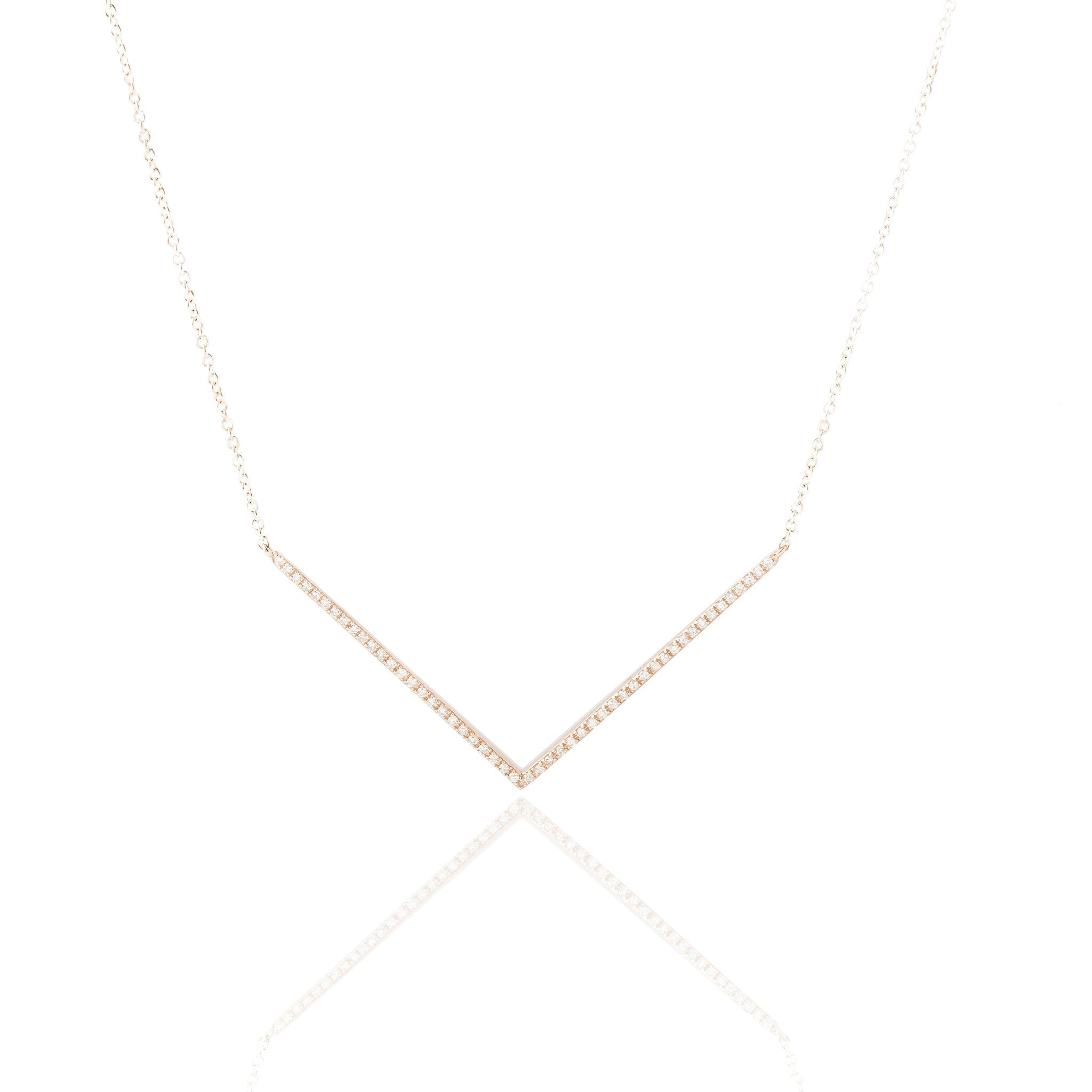 Chevron Diamond Necklace by Atheria Jewelry