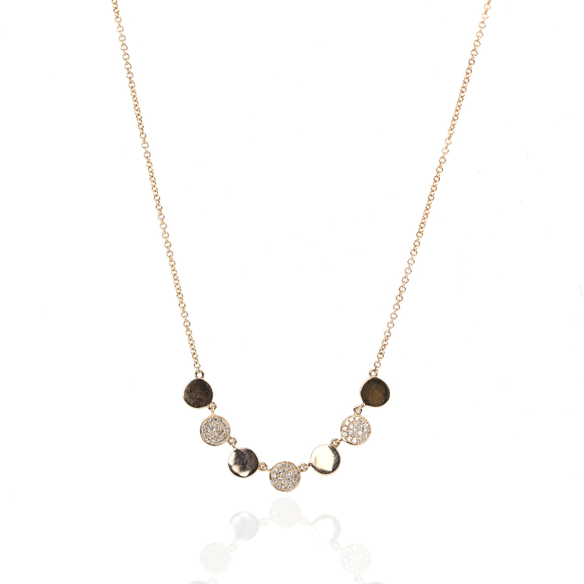 Confetti Diamond Necklace by Atheria Jewelry