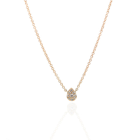 Dew Drop Diamond Necklace by Atheria Jewelry