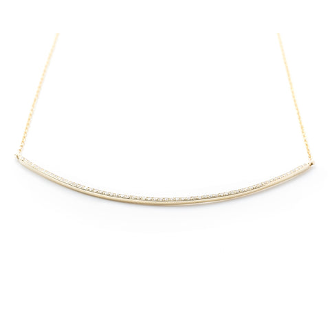 Diamond Arc Necklace by Atheria Jewelry