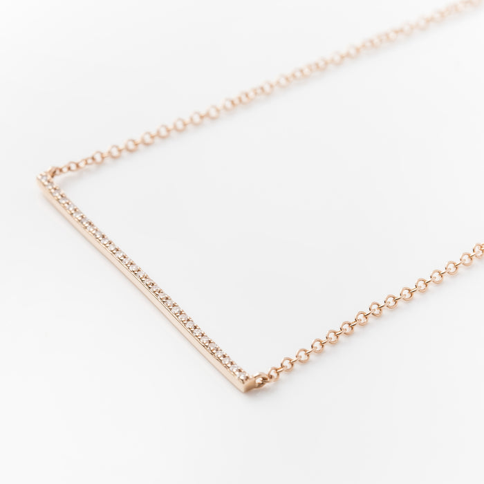 Diamond Bar Necklace by Atheria Jewelry