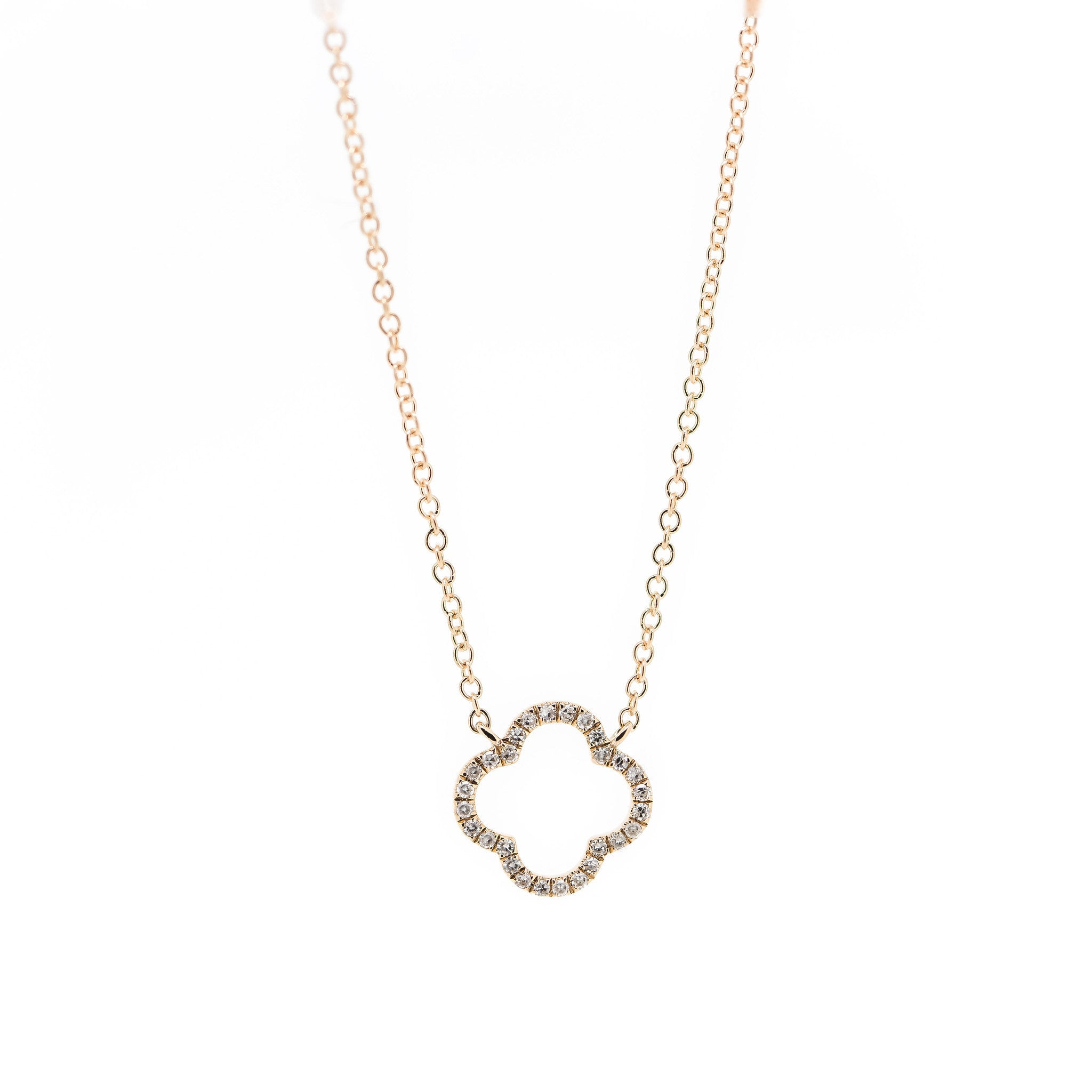 Diamond Clover Necklace by Atheria Jewelry