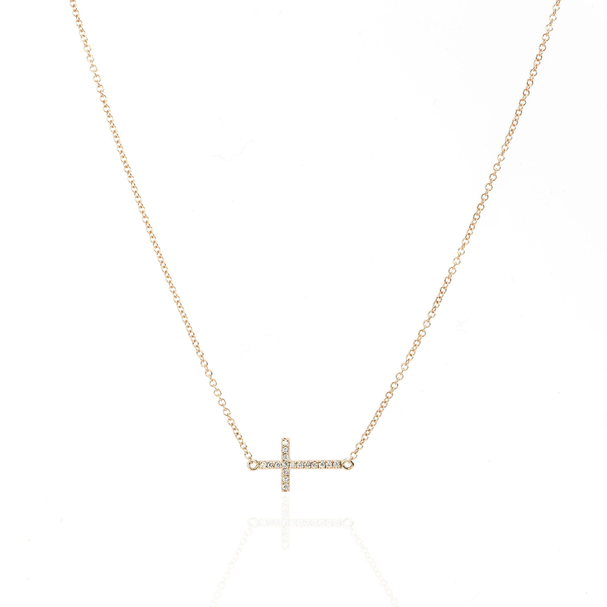 Diamond Cross Necklace by Atheria Jewelry