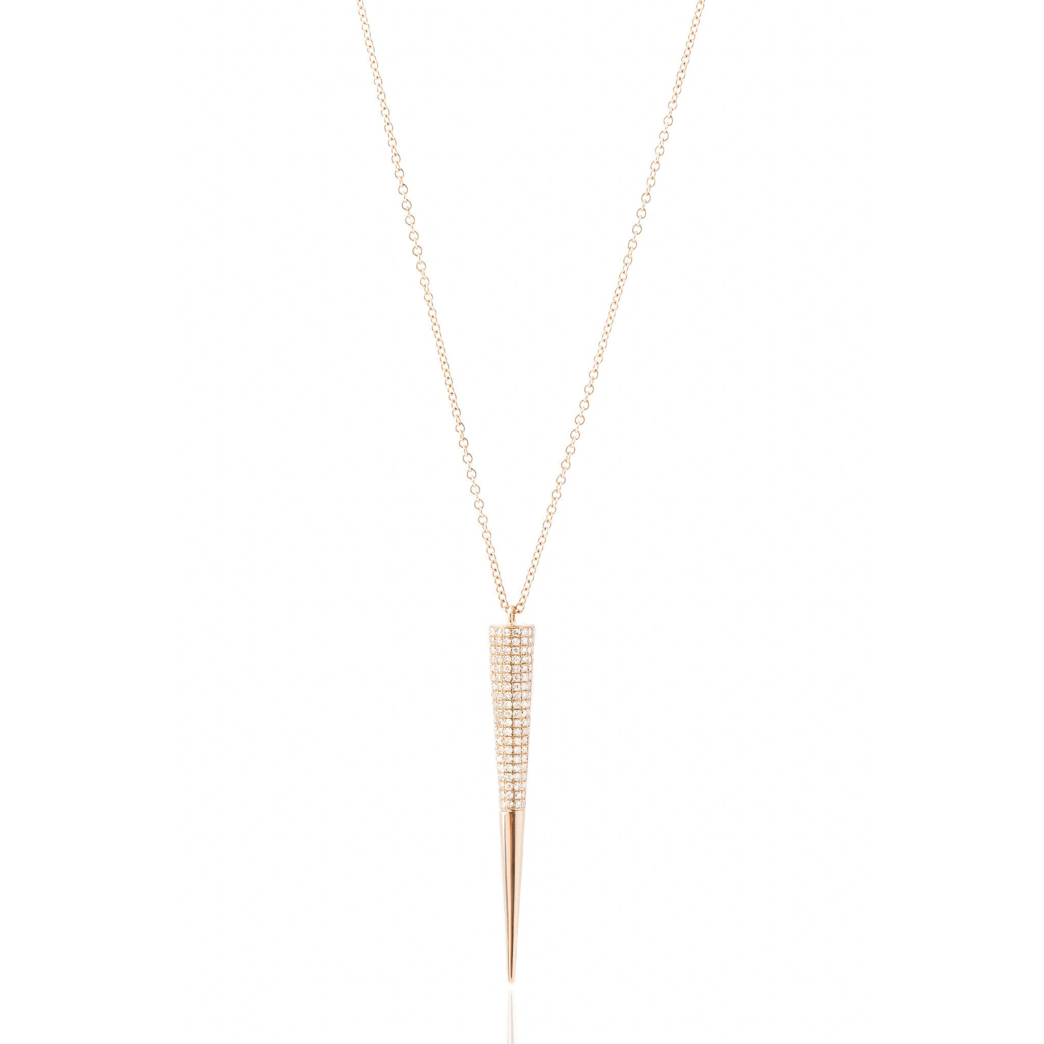 Diamond Dagger Necklace by Atheria Jewelry
