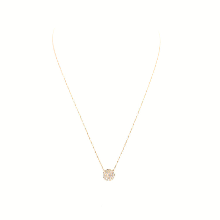 Diamond Disc Necklace by Atheria Jewelry