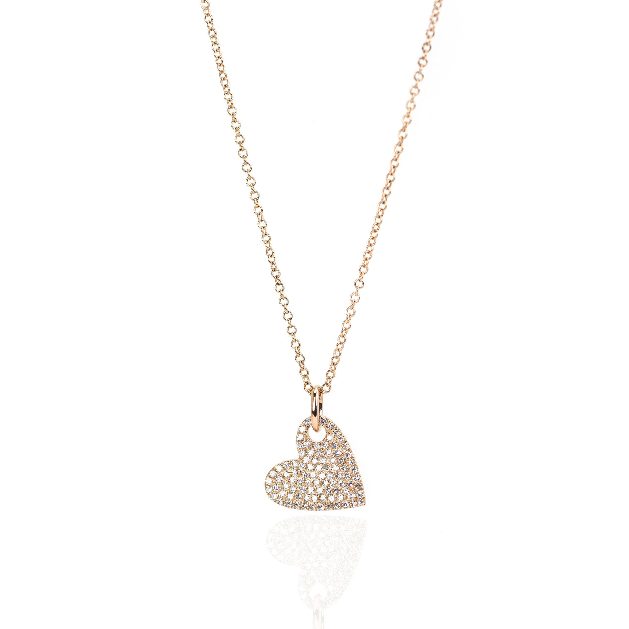 Diamond Heart Necklace by Atheria Jewelry
