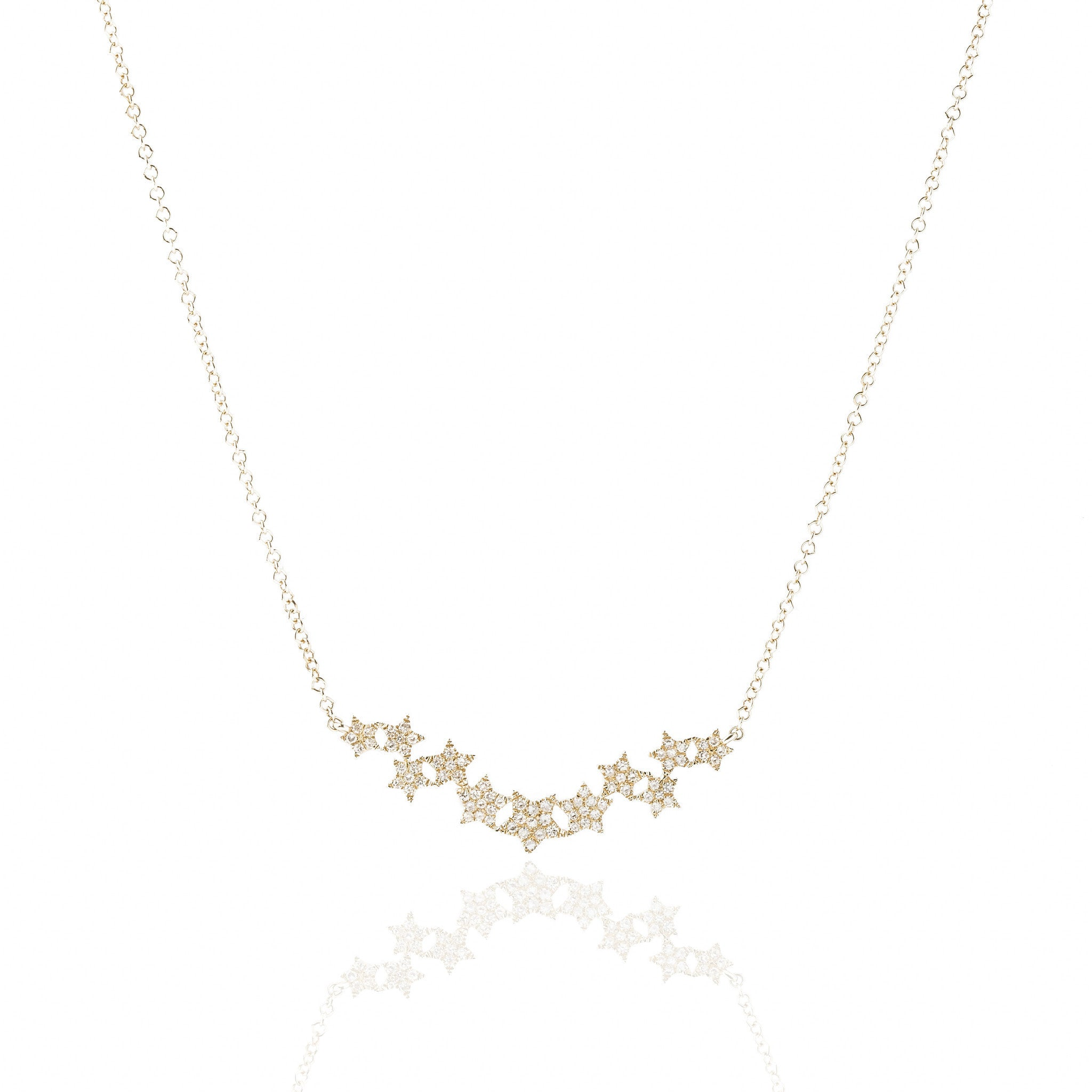 necklaces d ct diamond pave certified gold f necklace twt stars pendant in white g set