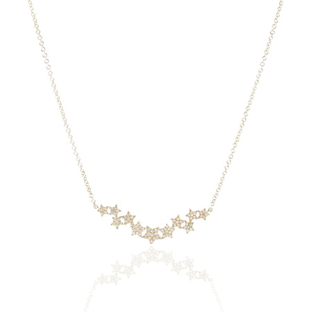 Diamond Stars Necklace by Atheria Jewelry