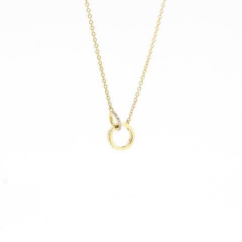 Emily Interlocking Circle Diamond Necklace by Atheria Jewelry