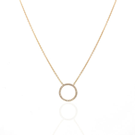 Halo Diamond Necklace by Atheria Jewelry
