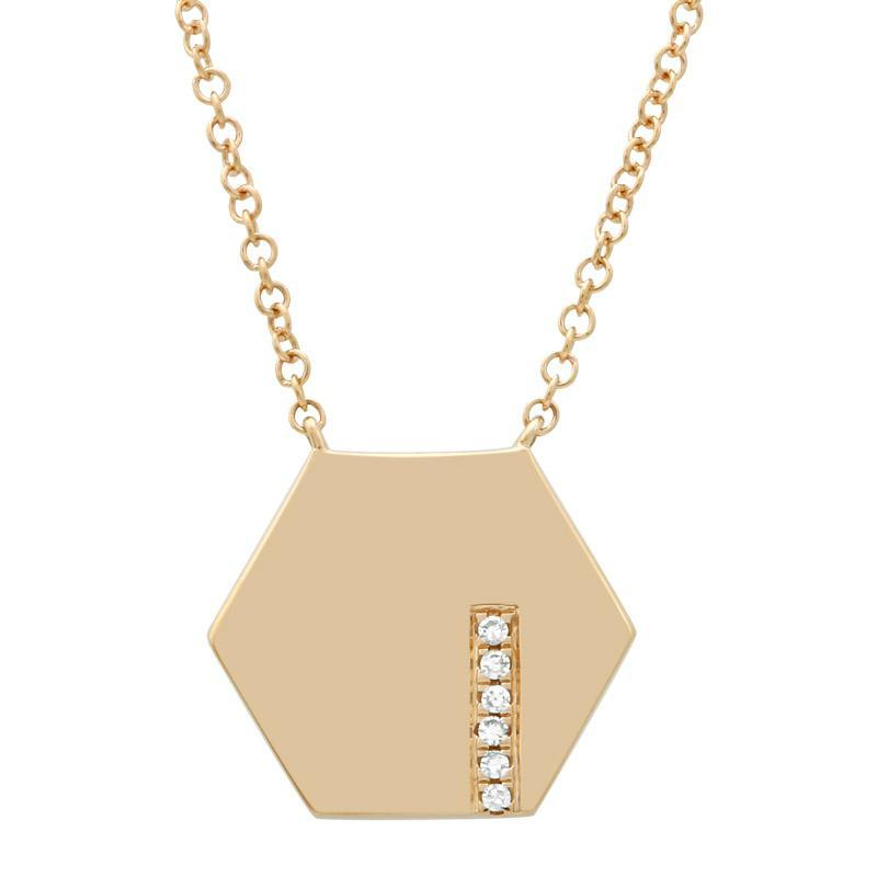 Hexagon Diamond Necklace by Atheria Jewelry