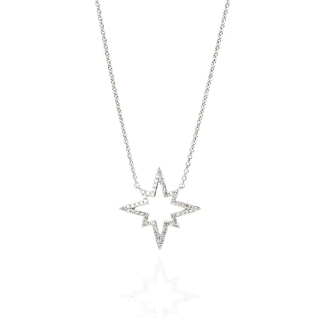 Starburst Pow! Diamond Necklace by Atheria Jewelry