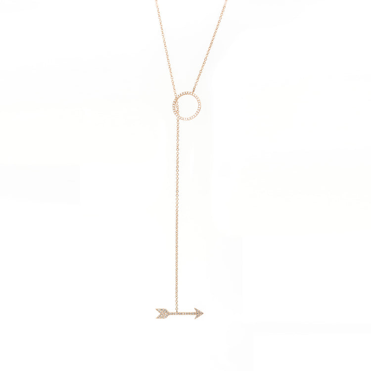 The Arrow Adjustable Lariat Necklace by Atheria Jewelry