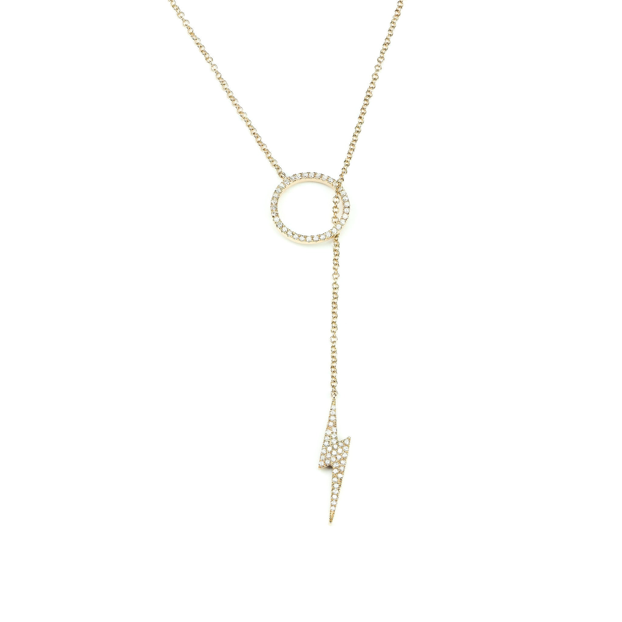 The Flash Adjustable Lariat Necklace by Atheria Jewelry