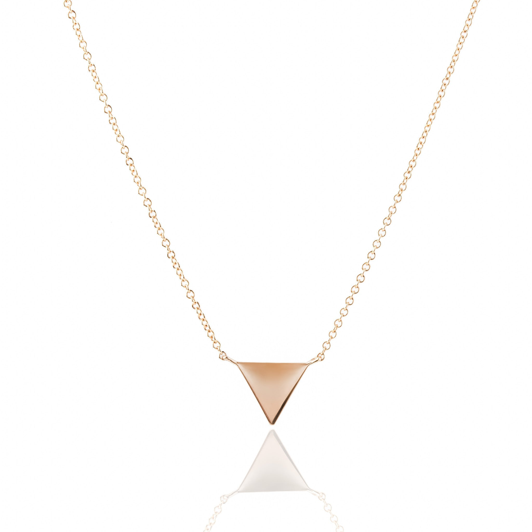 Triangle Diamond Necklace by Atheria Jewelry