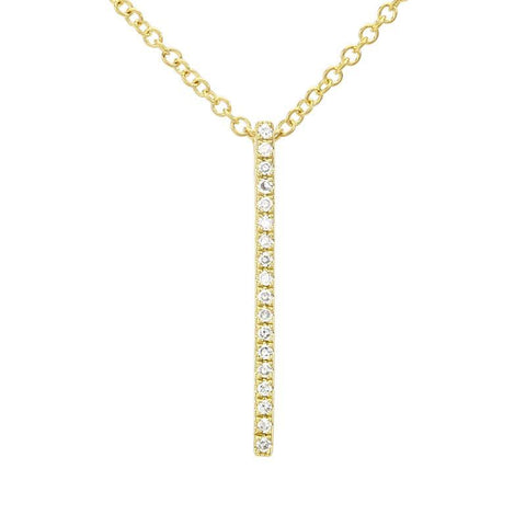 Vertical Diamond Bar Necklace by Atheria Jewelry