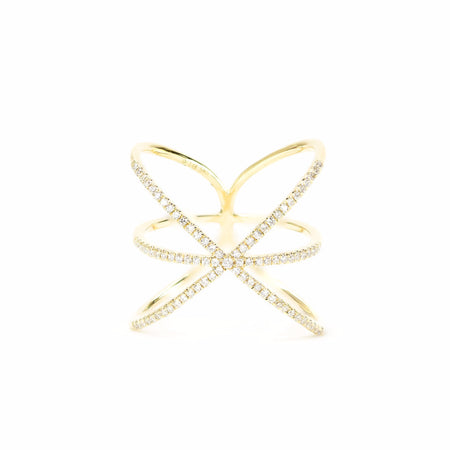 Asterisk Diamond Ring by Atheria Jewelry