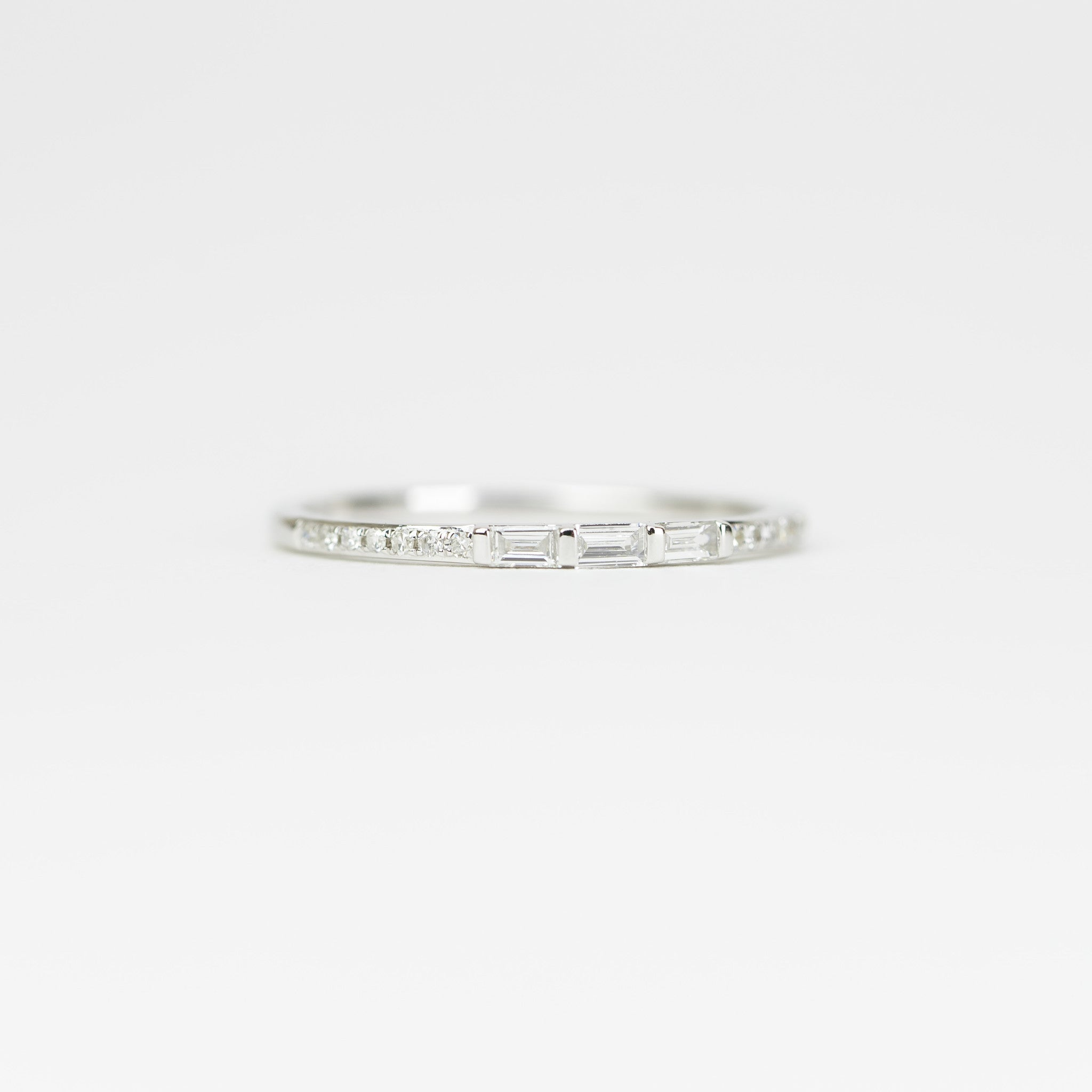 Baguette Diamond Band Ring by Atheria Jewelry