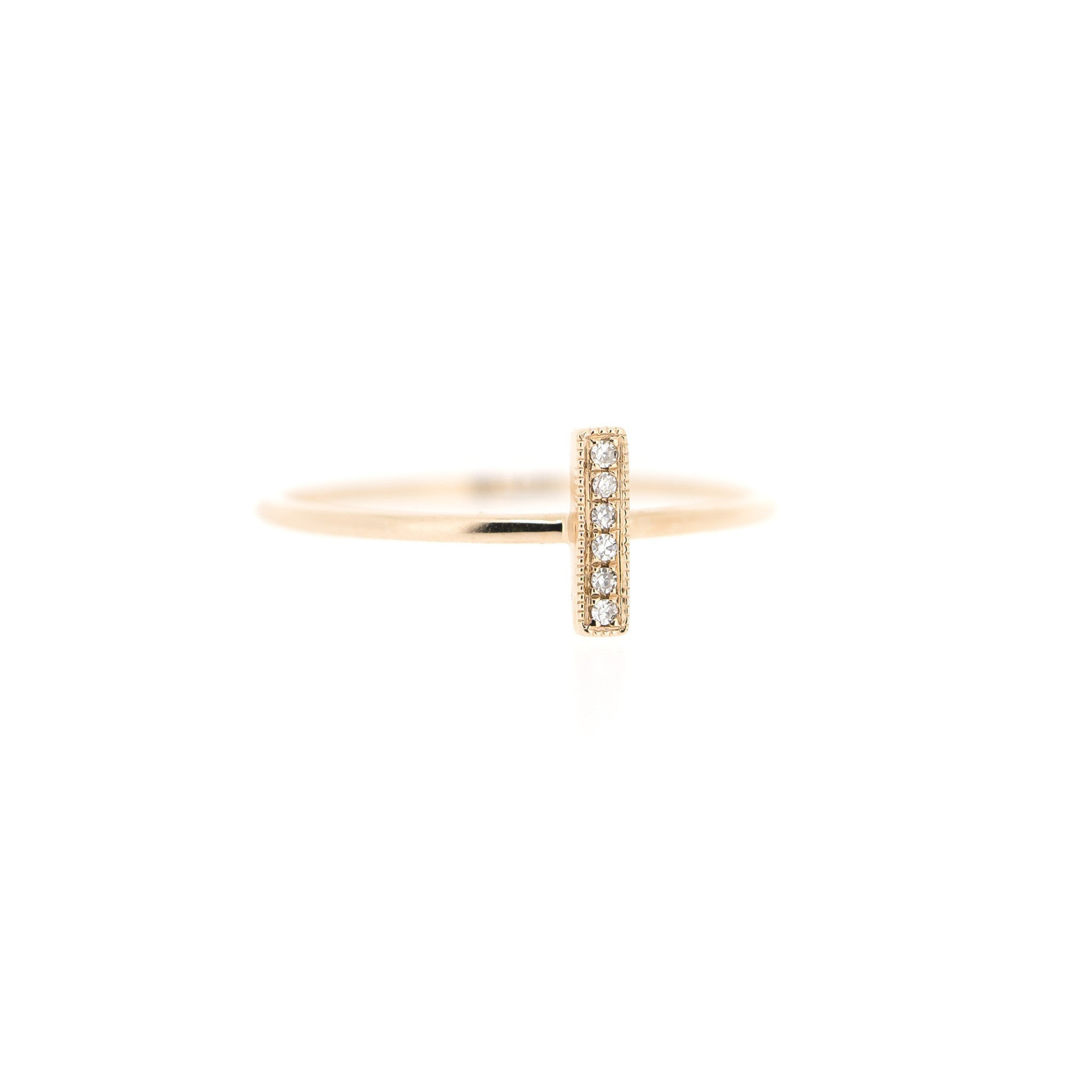 Diamond Bar Ring by Atheria Jewelry