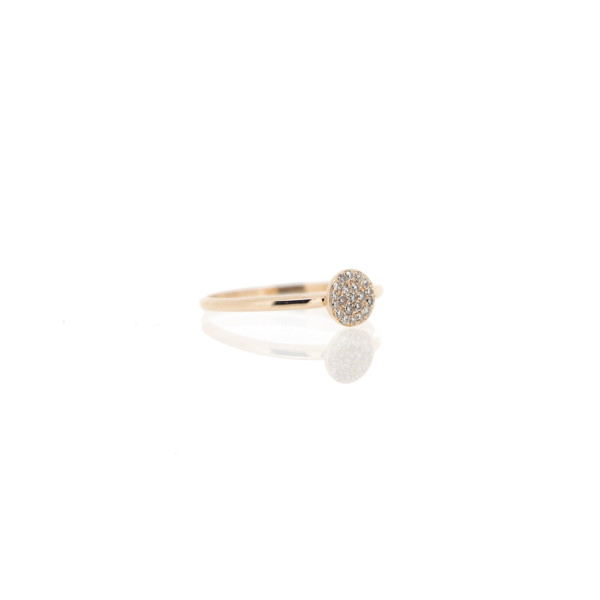 Diamond Disc Ring by Atheria Jewelry