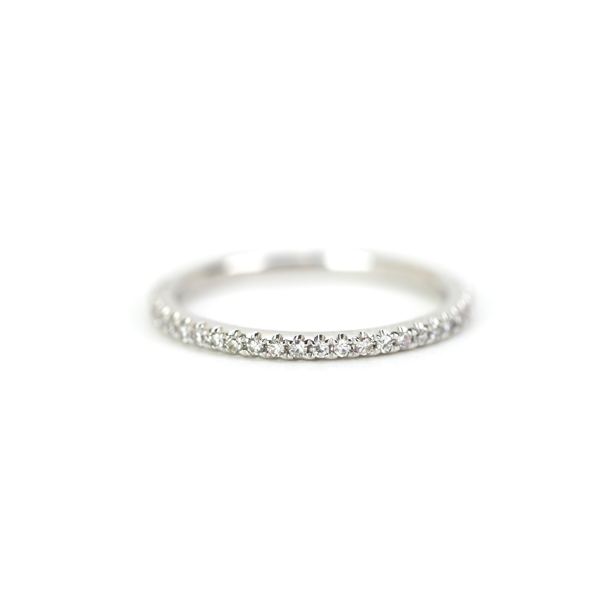 Diamond Eternity Band/Stacking Ring by Atheria Jewelry